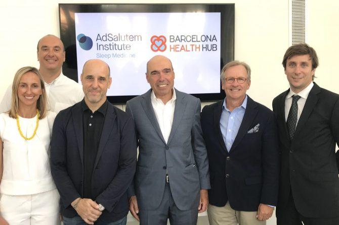 Acuerdo de colaboración entre AdSalutem Institute y Barcelona Health Hub